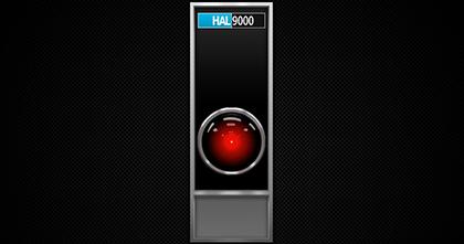 Observem que a forma de HAL tem a mesma do monólito - incluindo até mesmo a pequena que serve para equilibra-la embaixo da terra.